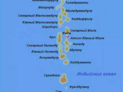 Карта Мальдив